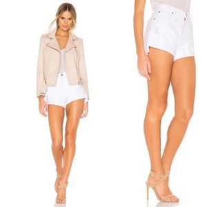 PISTOLA Kylee Relaxed High Rise White Shorts  26